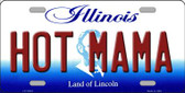 Hot Mama Illinois Background Wholesale Metal Novelty License Plate