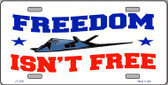 Freedom Isn't Free Wholesale Metal Novelty License Plate