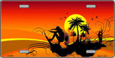 Sunset Surfer Wholesale Metal Novelty License Plate LP-2397