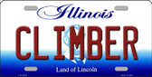Climber Illinois Background Wholesale Metal Novelty License Plate
