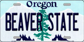 Beaver State Oregon Background Wholesale Metal Novelty License Plate