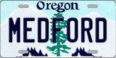Medford Oregon Background Wholesale Metal Novelty License Plate