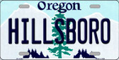 Hillsboro Oregon Background Wholesale Metal Novelty License Plate