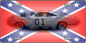 Confederate Flag Charger Wholesale Metal Novelty License Plate LP-2401
