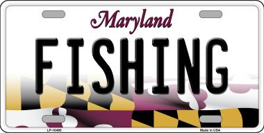 Fishing maryland background wholesale metal novelty for Md fishing license