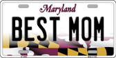 Best Mom Maryland Background Wholesale Metal Novelty License Plate