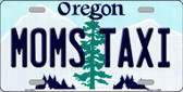 Moms Taxi Oregon Background Wholesale Metal Novelty License Plate