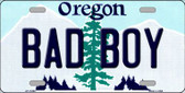 Bad Boy Oregon Background Wholesale Metal Novelty License Plate