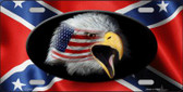 Rebel Flag American Eagle Wholesale Metal Novelty License Plate LP-2408