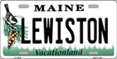 Lewiston Maine Background Wholesale Metal Novelty License Plate