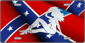 Rebel Flag Mudflap Cowgirl Wholesale Metal Novelty License Plate LP-2409