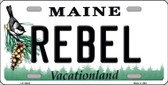 Rebel Maine Background Wholesale Metal Novelty License Plate