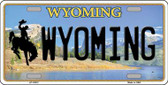 Wyoming Background Wholesale Metal Novelty License Plate