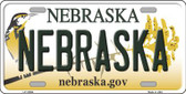 Nebraska Background Wholesale Metal Novelty License Plate