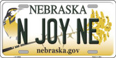 N Joy NE Nebraska Background Wholesale Metal Novelty License Plate
