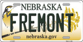 Fremont Nebraska Background Wholesale Metal Novelty License Plate