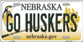 Go Huskers Nebraska Background Wholesale Metal Novelty License Plate