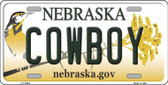 Cowboy Nebraska Background Wholesale Metal Novelty License Plate