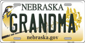 Grandma Nebraska Background Wholesale Metal Novelty License Plate