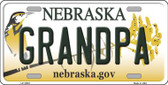 Grandpa Nebraska Background Wholesale Metal Novelty License Plate