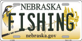 Fishing Nebraska Background Wholesale Metal Novelty License Plate