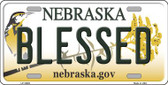 Blessed Nebraska Background Wholesale Metal Novelty License Plate