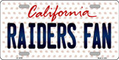Raiders Fan California Background Novelty Wholesale Metal License Plate