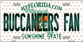 Buccaneers Fan Florida Background Novelty Wholesale Metal License Plate