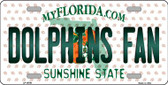 Dolphins Fan Florida Background Novelty Wholesale Metal License Plate