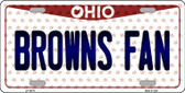 Browns Fan Ohio Background Novelty Wholesale Metal License Plate