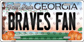 Braves Fan Georgia Background Novelty Wholesale Metal License Plate