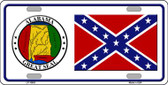 Confederate Flag Alabama Seal Novelty Wholesale Metal License Plate