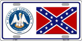 Confederate Flag Louisiana Seal Novelty Wholesale Metal License Plate