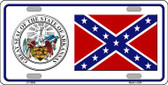 Confederate Flag Arkansas Seal Novelty Wholesale Metal License Plate