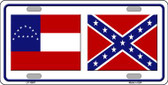 Confederate Robert E Lee Flag Novelty Wholesale Metal License Plate