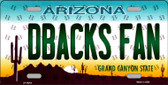 Dbacks Fan Arizona Background Novelty Wholesale Metal License Plate
