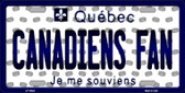 Canadiens Fan Quebec Background Novelty Wholesale Metal License Plate