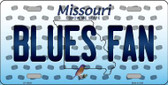 Blues Fan Missouri Background Novelty Wholesale Metal License Plate