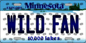 Wild Fan Minnesota Background Novelty Wholesale Metal License Plate