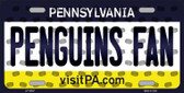 Penguins Fan Pennsylvania Background Novelty Wholesale Metal License Plate