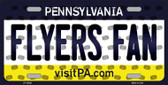 Flyers Fan Pennsylvania Background Novelty Wholesale Metal License Plate