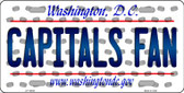 Capitals Fan Washington DC Background Novelty Wholesale Metal License Plate