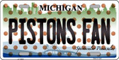 Pistons Fan Michigan Background Novelty Wholesale Metal License Plate