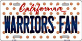 Warriors Fan California Background Novelty Wholesale Metal License Plate