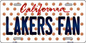 Lakers Fan California Background Novelty Wholesale Metal License Plate