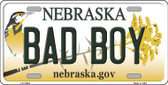 Bad Boy Nebraska Background Wholesale Metal Novelty License Plate