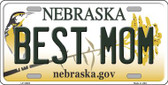 Best Mom Nebraska Background Wholesale Metal Novelty License Plate