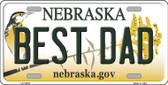 Best Dad Nebraska Background Wholesale Metal Novelty License Plate