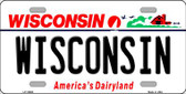 Wisconsin Background Wholesale Metal Novelty License Plate