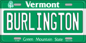 Burlington Vermont Background Wholesale Metal Novelty License Plate